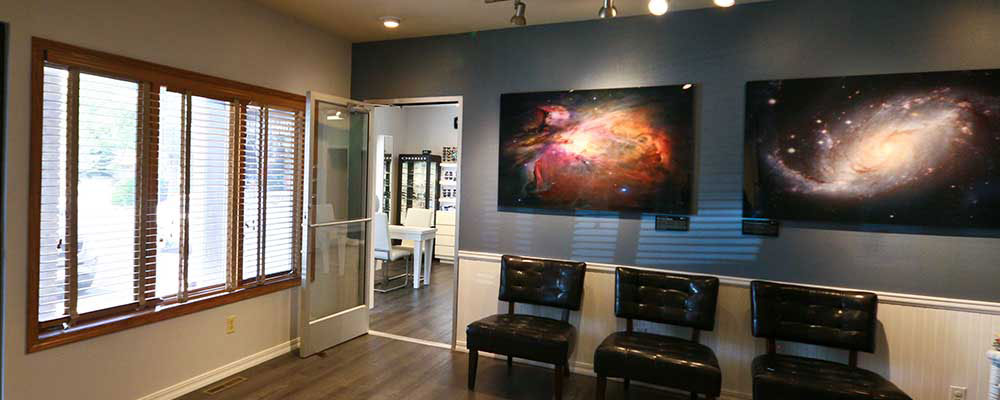 Inside waiting area in 20 Twenty Optical and Eye Care