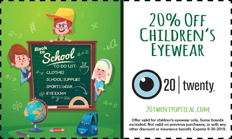 Promotion for childs eyewear